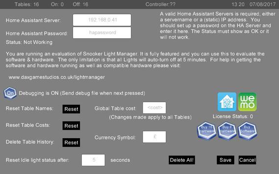 Snooker Light Manager screenshot 1