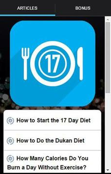 17 Day Diet To Go Tracker poster