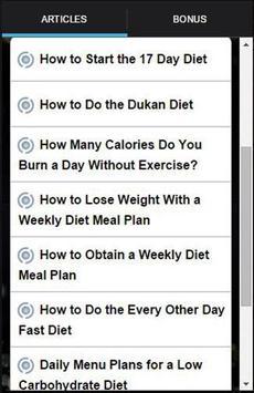 17 Day Diet To Go Tracker screenshot 2