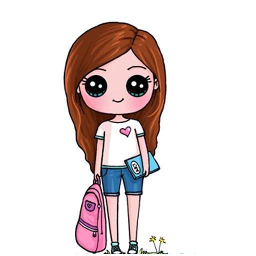 Drawing Cute Chibi Princess, Step by Step Drawing Download