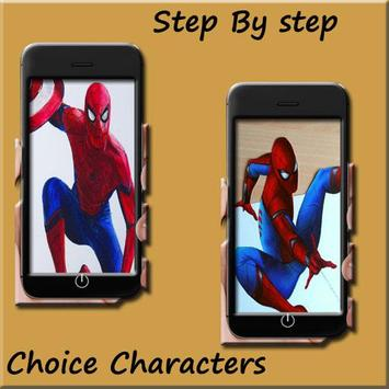 How to draw Spiderman homecoming screenshot 1