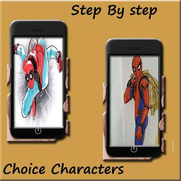 How to draw Spiderman homecoming screenshot 2