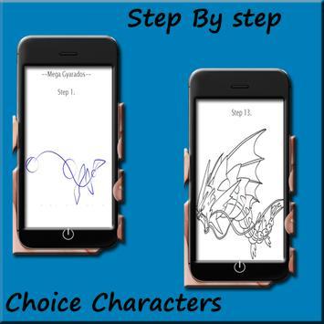 How to draw Pokemon Mega evolution screenshot 4