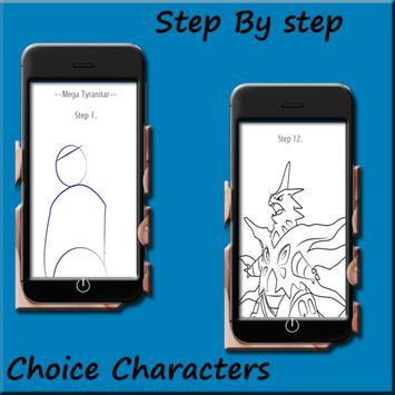 How to draw Pokemon Mega evolution screenshot 5