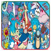 How to draw Pokemon Easy icon