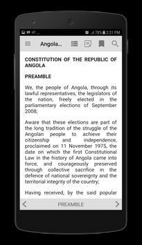 Angola Constitution 2010 apk screenshot
