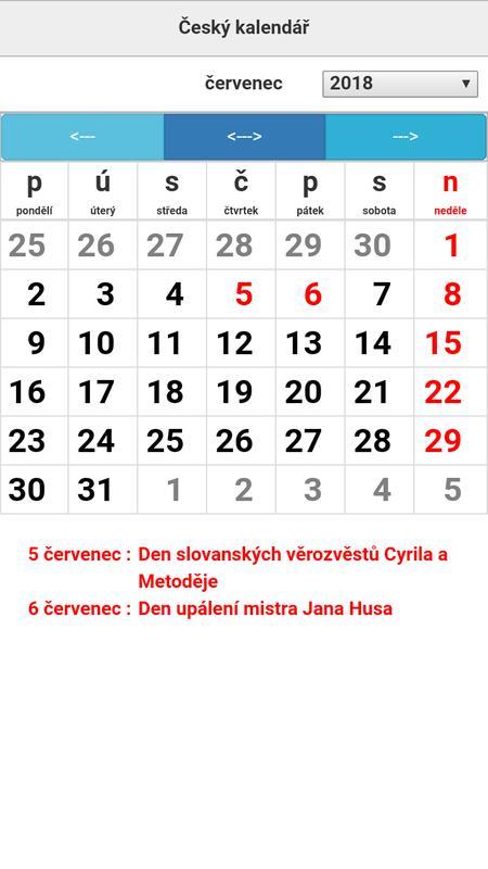 cesky kalendar Český kalendář for Android   APK Download cesky kalendar