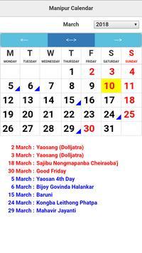 Manipur Calendar poster