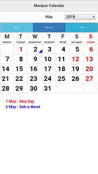 Manipur Calendar screenshot 2