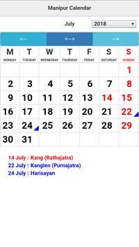 Manipur Calendar screenshot 3