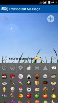 Transparent Message screenshot 1