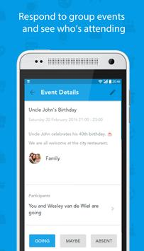 Dayhaps, a shared calendar app apk screenshot