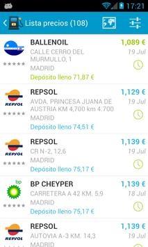 Fuel Consumption Spain screenshot 1