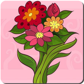 Simple Drawing Flowers icon