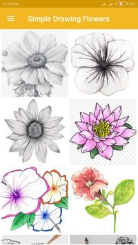 Simple Drawing Flowers poster