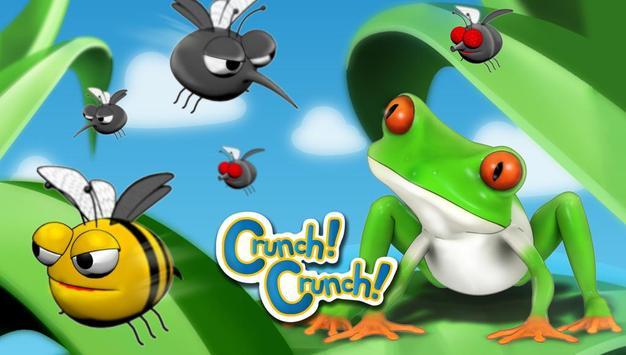 Crunch!Crunch! Frog poster