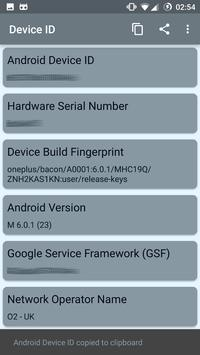 Device ID (Mobile and Wear) apk screenshot