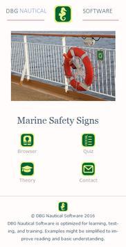 Marine Safety Signs 포스터