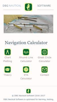 Navigation Calculator Affiche