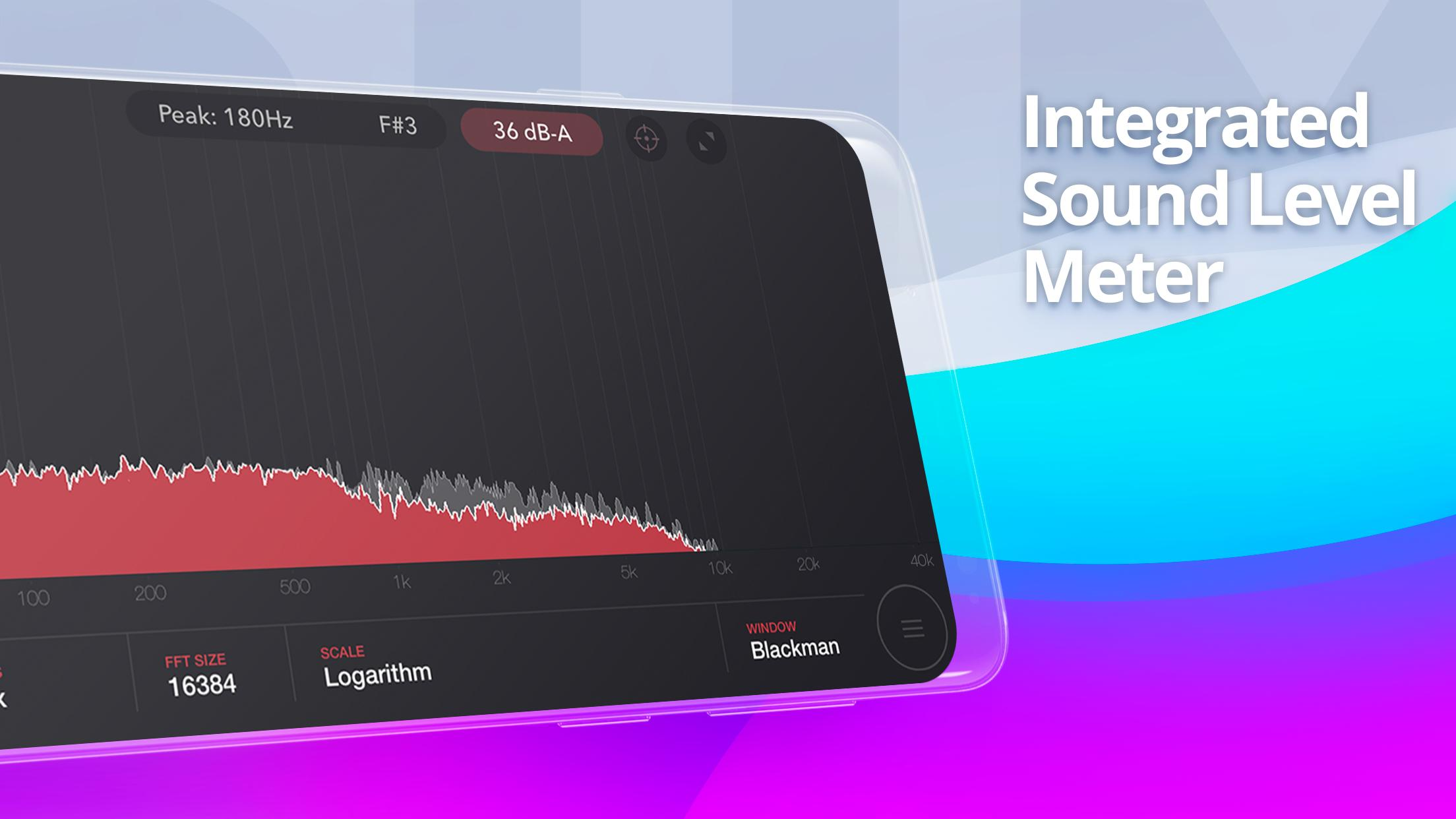 Audio Spectrum Analyzer & Sound Frequency Meter for Android