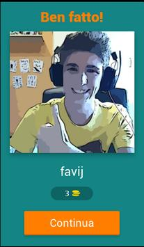 Indovina lo Youtuber Italia apk screenshot