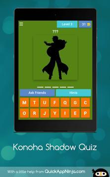 Konoha Shadow Quiz apk screenshot