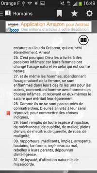 Bible SEGOND gratuite offline apk screenshot