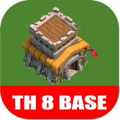 New COC Town Hall 8 Base icon