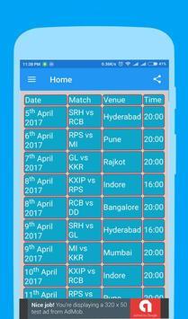 Live Cricket T20 I.P.L 2017 apk screenshot