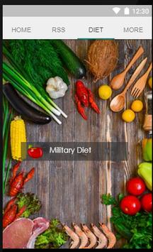 Military Diet App poster