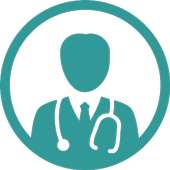 Lung cancer staging treatment icon