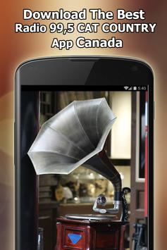 Radio 99,5 CAT COUNTRY Online Free Canada screenshot 12