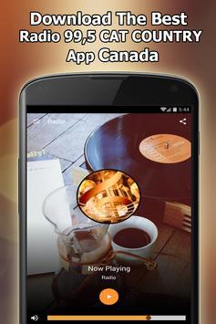 Radio 99,5 CAT COUNTRY Online Free Canada screenshot 1