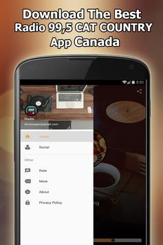 Radio 99,5 CAT COUNTRY Online Free Canada screenshot 6