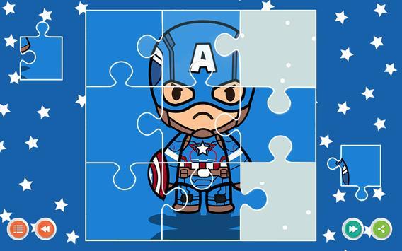 Superheroes Wonder Jigsaw Puzzle game for Kids apk screenshot