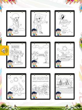 19 Mayıs Boyama Kitabı Oyunu screenshot 13