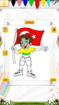 19 Mayıs Boyama Kitabı Oyunu screenshot 3