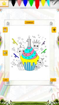 Doğum Günü Boyama Kitabı Oyunu apk screenshot