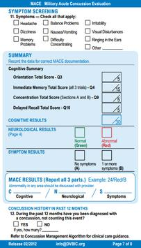 MACE Concussion Evaluation screenshot 6