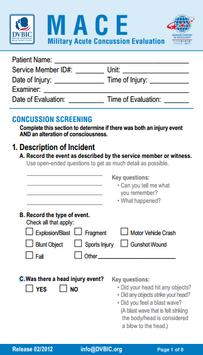 MACE Concussion Evaluation poster