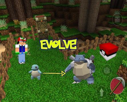 Pixelmon : craft and world mod PE screenshot 1