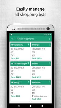 Shopsly - Grocery list apk screenshot