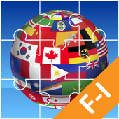 🌍 Jigsaw Puzzle : for learning National Flags F-I icon