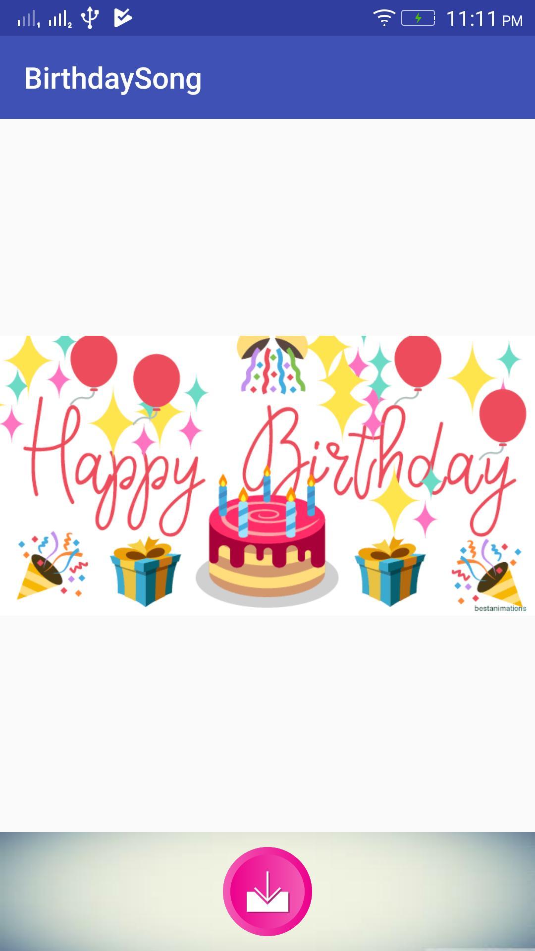 Birthday Song Maker Happy Birthday Greeting Card для андроид