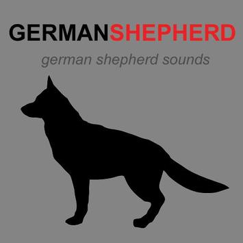 German Shepherd & Dog Barking poster