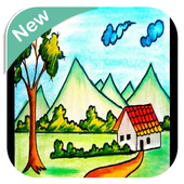 Scenery Drawing For Kids icon