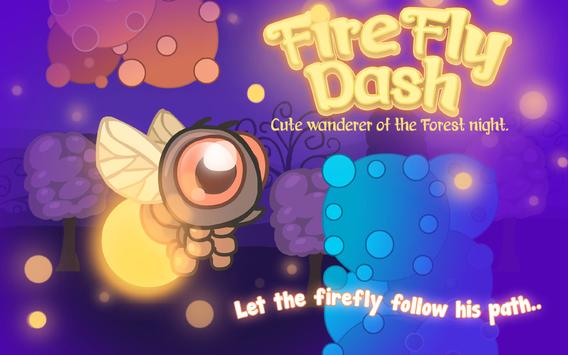 Fire Fly Dash: Cute ALI-TAP-TAP Light Bee at Night poster