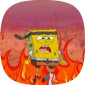 Zombie Bottom - Walking Sponge games (Sponge-Bob) icon