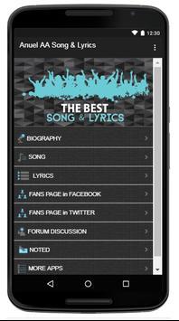 Anuel AA Song & Lyrics apk screenshot