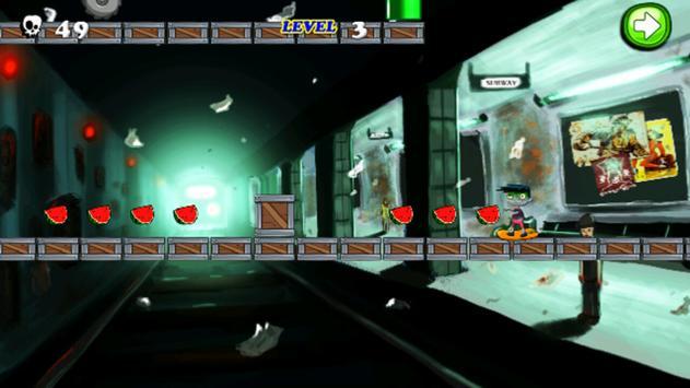 Subway Zombie Skater Run poster